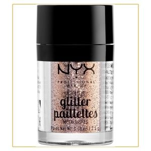 Nyx metallic glitter eyeshadow.